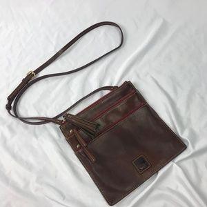 Dooney & Bourke   Triple Zip Leather Crossbody Bag